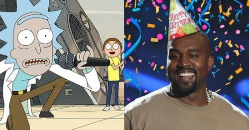 'Rick & Morty' felicitaron a Kanye West por su cumpleaños gracias a Kim