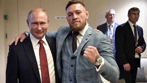 Conor McGregor acude a la final del Mundial invitado por Putin