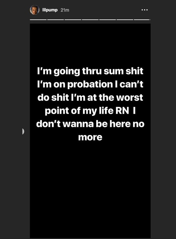 lil pump - Seguidores de Lil Pump se asustan por un extraño mensaje en su Instagram