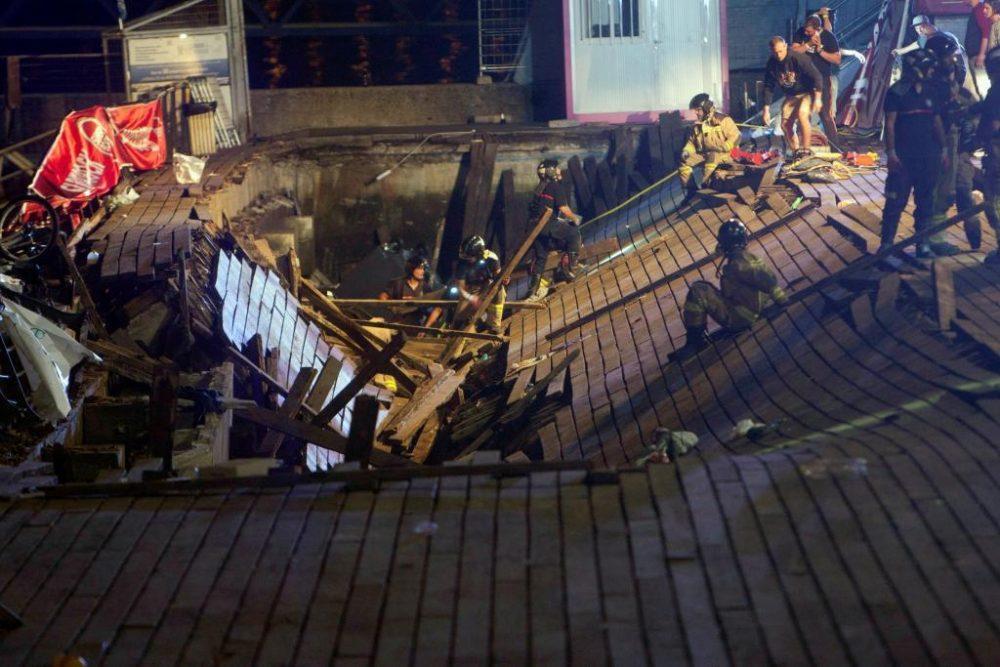 Más de 300 heridos en el O Marisquiño de Vigo por el derrumbe del paseo marítimo