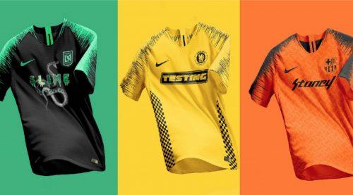 Un diseñador gráfico une discos del género y fútbol en distintas camisetas