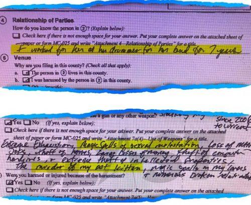 Documentos publicados por The Blast. 500x409 - Beyoncé es demandada por practicar magia negra contra una exbatería de su equipo