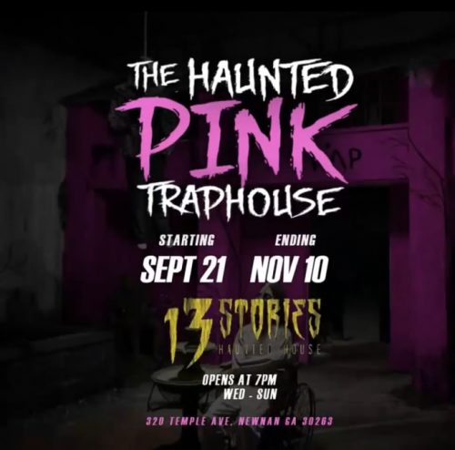 haunted trap house 500x494 - 2 Chainz convierte su Trap House rosa en una casa encantada