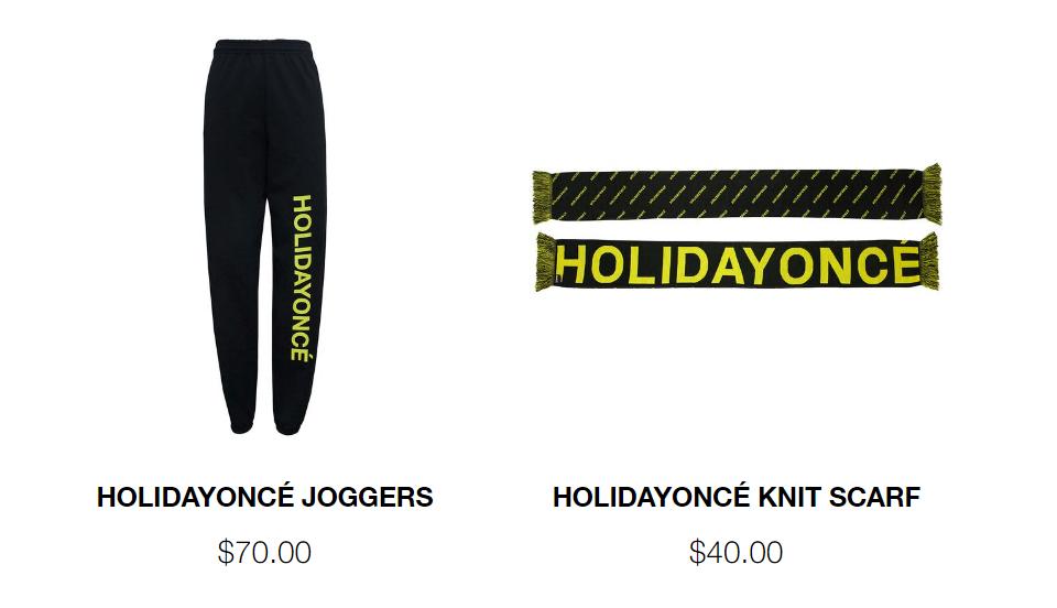 7 - Beyoncé lanza 'Holidayoncé', una colección de merchandising