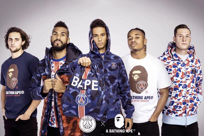 BAPE celebra el aniversario de su tienda en París colaborando con el PSG
