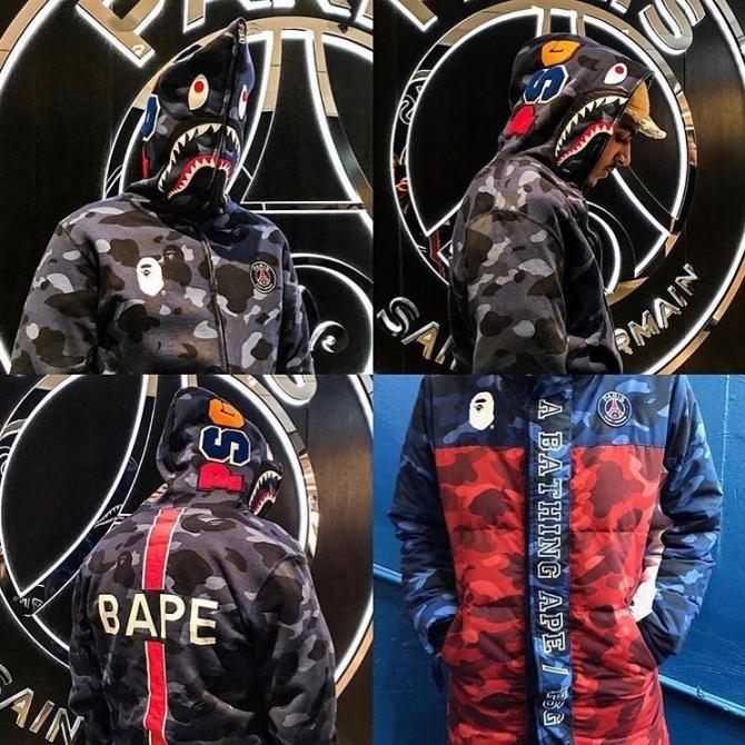 psg bape 59030 - BAPE celebra el aniversario de su tienda en París colaborando con el PSG