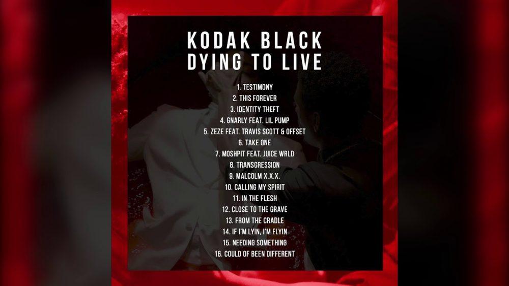 Escucha aquí y ahora 'Dying To Live', el nuevo álbum de Kodak Black