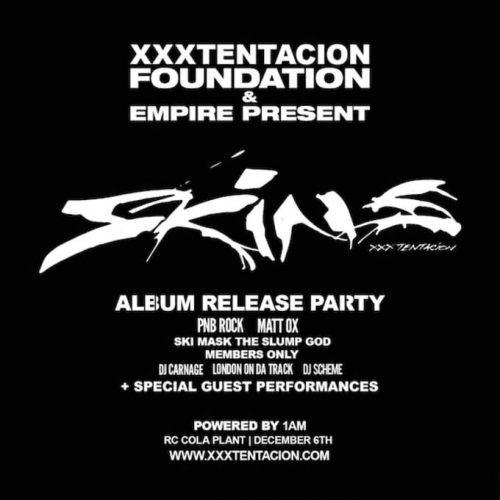 XXXTENTACIONRELEASEPARTY 500x500 - Ya puedes escuchar 'Skins', el primer álbum póstumo de XXXTentacion