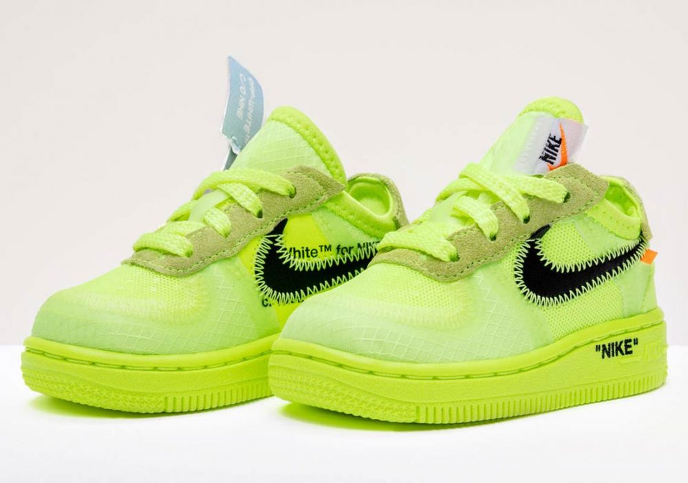 off white nike air force 1 low volt kids 5 1000x702 - Ya tenemos fecha de salida para las OFF-WHITE x Air Force 1 'Volt'