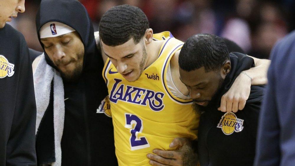 Lonzo Ball se suma a la lista de lesionados de Los Angeles Lakers