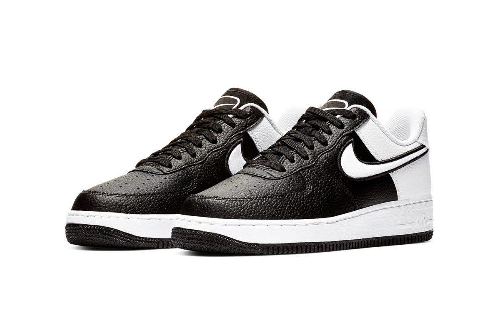 https   hypebeast.com image 2019 01 nike two toned air force 1 black white release 002 1000x667 - Nike le da un giro a las AF1 con tres modelos en dos tonos