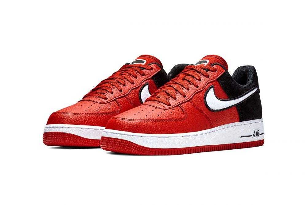 https   hypebeast.com image 2019 01 nike two toned air force 1 red black release 012 1000x667 - Nike le da un giro a las AF1 con tres modelos en dos tonos