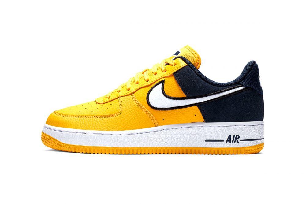 https   hypebeast.com image 2019 01 nike two toned air force 1 yellow navy release 006 1000x667 - Nike le da un giro a las AF1 con tres modelos en dos tonos