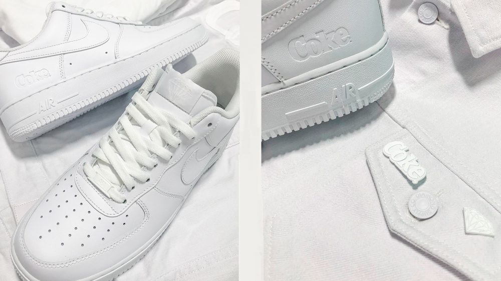 Descubre las Air Force 1 'White Coke' x Coca-Cola x Diamond Supply Co.
