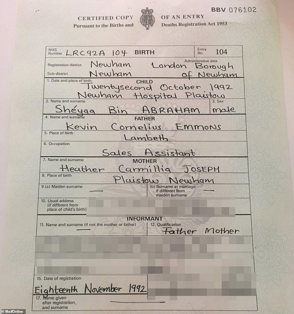 21savage birthcertificate 938x1000 - Las claves de la detención de 21 Savage por el ICE