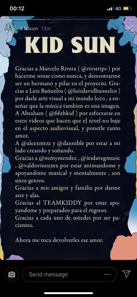 Image from iOS 2 462x1000 - Kid Sun anuncia 'El Modo', su vuelta a la música, para el 22 de marzo