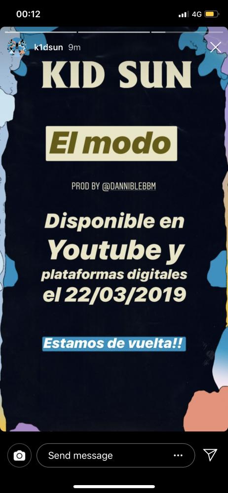 Image from iOS 462x1000 - Kid Sun anuncia 'El Modo', su vuelta a la música, para el 22 de marzo