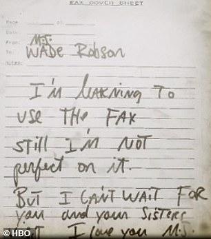 fax mj3 - ¿Por qué el documental sobre los supuestos abusos de Michael Jackson huele a montaje?