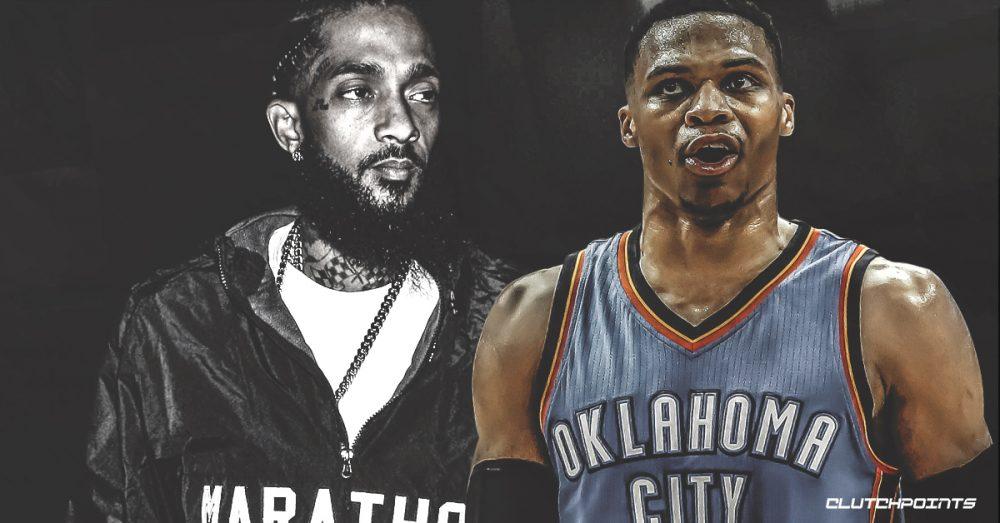 Russell Westbrook hace historia en la NBA y homenajea a Nipsey Hussle
