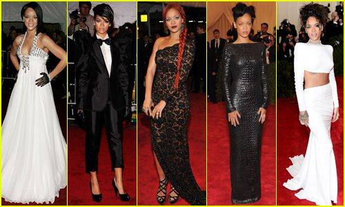 rihanna met gala looks years1 500x300 - Rihanna pasa de ser la mejor vestida a la gran ausente de la Gala MET