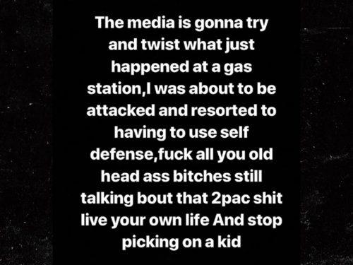 0608 lil xan instagram 2 500x375 - Lil Xan amenaza con una pistola a un hombre que le preguntó por Tupac