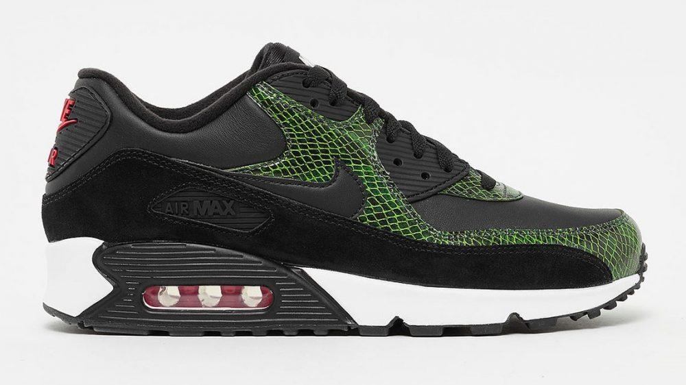 """1 3 1000x562 - La familia de las Nike Air Max 90 aumenta con las """"Green Python"""""""