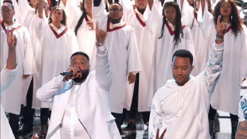 Mira el tributo de YG, John legend y DJ Khaled a Nipsey Hussle en los premios BET