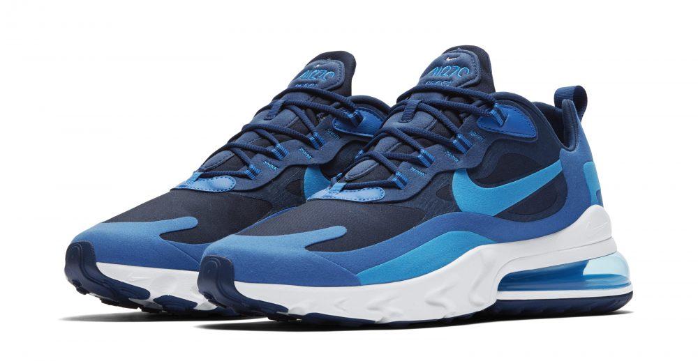 nike air max 270 react blue 1000x518 - Entérate de todos los detalles de las nuevas Nike Air Max 270 React