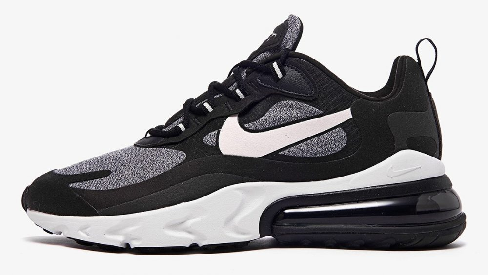 "nike air max 270 react white grey black ao4971 001 1 1000x564 - Ya tenemos los detalles de las Nike Air Max 270 React ""Black & White"""
