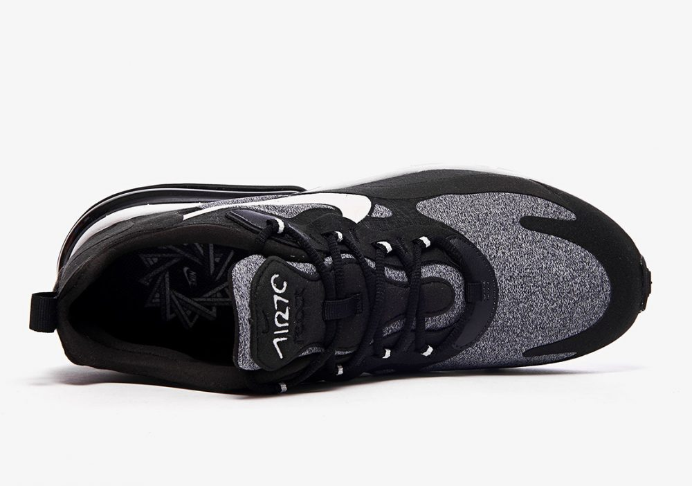 "nike air max 270 react white grey black ao4971 001 2 1000x702 - Ya tenemos los detalles de las Nike Air Max 270 React ""Black & White"""