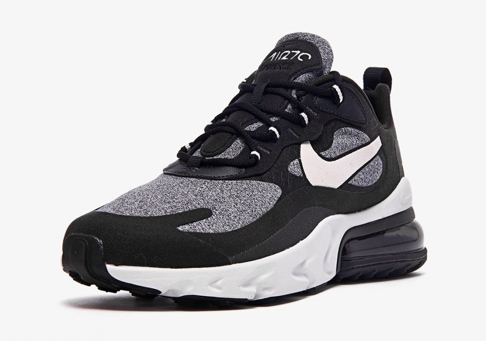 "nike air max 270 react white grey black ao4971 001 3 1000x702 - Ya tenemos los detalles de las Nike Air Max 270 React ""Black & White"""