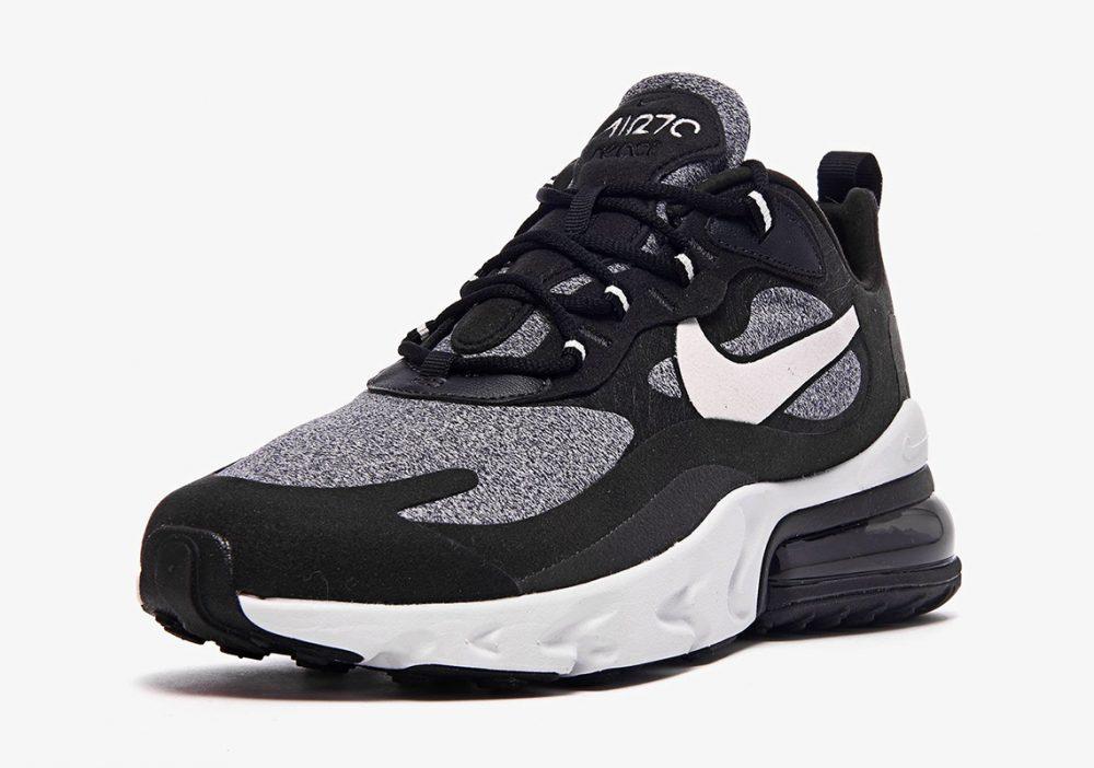 "nike air max 270 react white grey black ao4971 001 3 1000x702 - Ya tenemos los detalles de las Nike Air Max 270 React ""Black & White"""