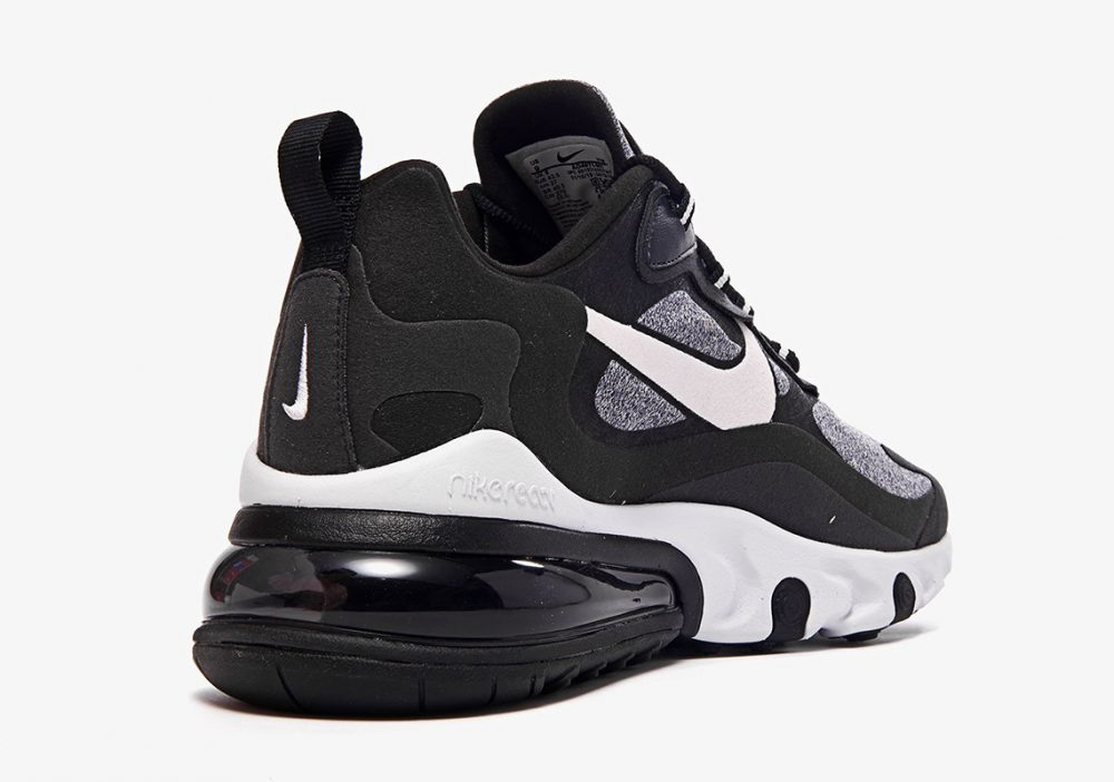 "nike air max 270 react white grey black ao4971 001 4 1000x702 - Ya tenemos los detalles de las Nike Air Max 270 React ""Black & White"""