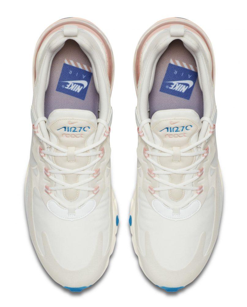 nike air max 270 react white pink 3 807x1000 - Entérate de todos los detalles de las nuevas Nike Air Max 270 React