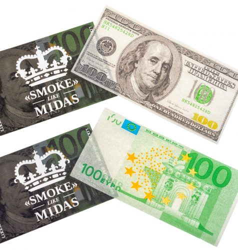 smoke like midas bundle paper 476x500 - Presentamos «LIKE MIDAS» en exclusiva: quema billetes con lingotes de oro