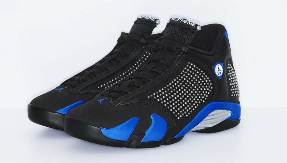 supreme air jordan 14 black blue pair 1000x570 - Supreme y Jordan revelan cómo son sus Jordan Air 14