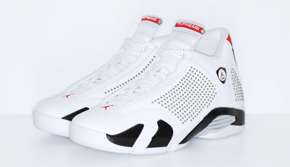 supreme air jordan 14 white red pair 1000x576 - Supreme y Jordan revelan cómo son sus Jordan Air 14