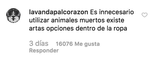 Captura de pantalla 2019 07 11 a las 20.49.29 - Dando caza a Rosalía: sobre el uso de pieles de animales en la moda