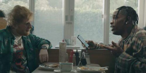 Ed Sheeran y Travis Scott nos dejan con la boca abierta en 'Antisocial'