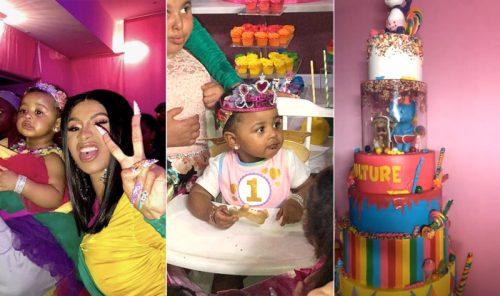 Cardi B y Offset celebran por todo lo alto el primer cumpleaños de su hija