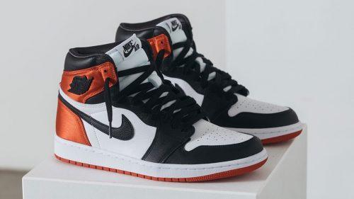 """Aquí tienes un adelanto de lo que serán las Air Jordan 1 «Satin Black Toe"""""""