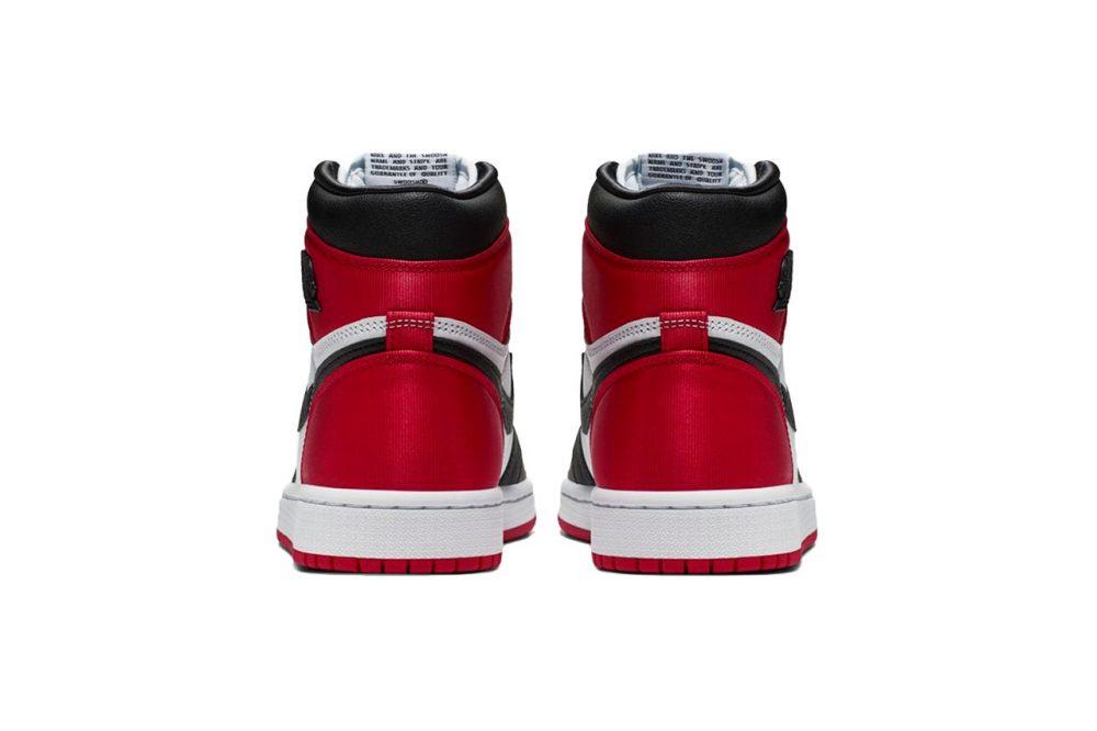 """https   hypebeast.com image 2019 08 womens air jordan 1 bloodline satin black toe 3 1000x666 - Las Air Jordan 1 """"Satin Black Toe"""" ya tienen fecha oficial de lanzamiento"""