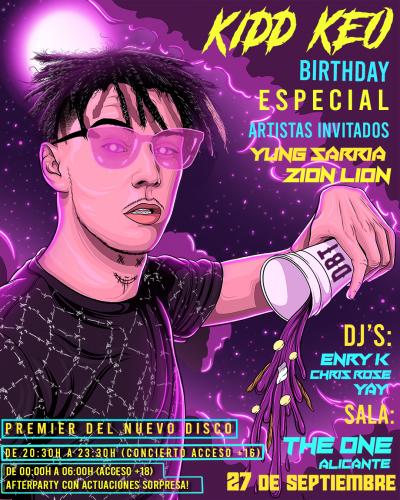 KEOPARTYIG 400x500 - ¡Celebra con Kidd Keo y DBT su fiesta de cumpleaños en Sala The One!