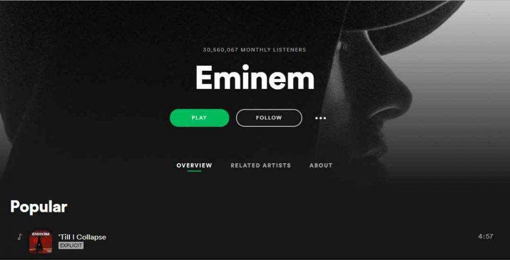 Spotify afronta una demanda multimillonaria por la música de Eminem