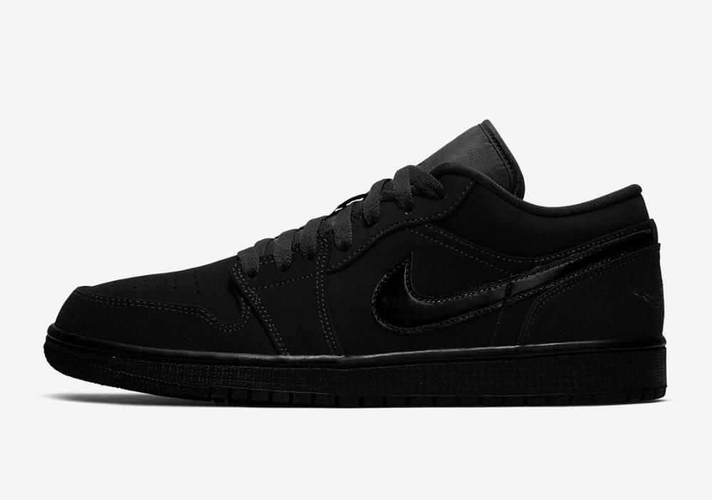 "air jordan 1 triple black 553558 056 1 1000x702 - Nike se pasa al negro con las nuevas Air Jordan 1 Low ""Triple Black"""