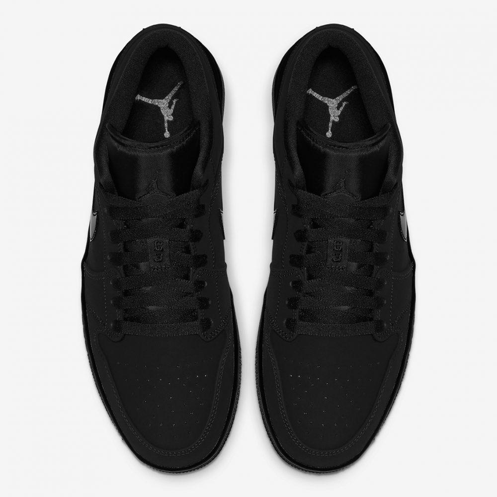 "air jordan 1 triple black 553558 056 4 1000x1000 - Nike se pasa al negro con las nuevas Air Jordan 1 Low ""Triple Black"""
