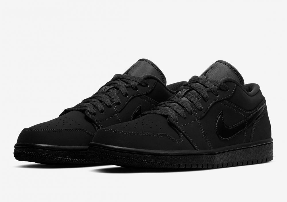 "air jordan 1 triple black 553558 056 5 1 1000x703 - Nike se pasa al negro con las nuevas Air Jordan 1 Low ""Triple Black"""