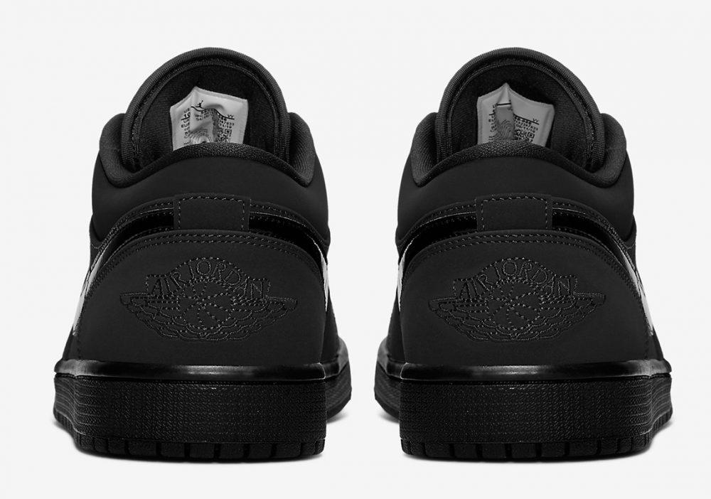 "air jordan 1 triple black 553558 056 6 1000x702 - Nike se pasa al negro con las nuevas Air Jordan 1 Low ""Triple Black"""