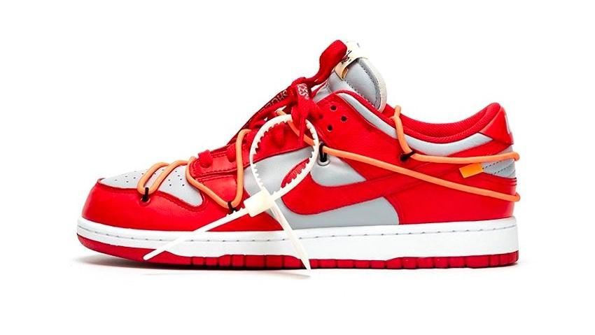 Ya están aquí las nuevas Dunk Low «University Red» de Nike x Off-White™
