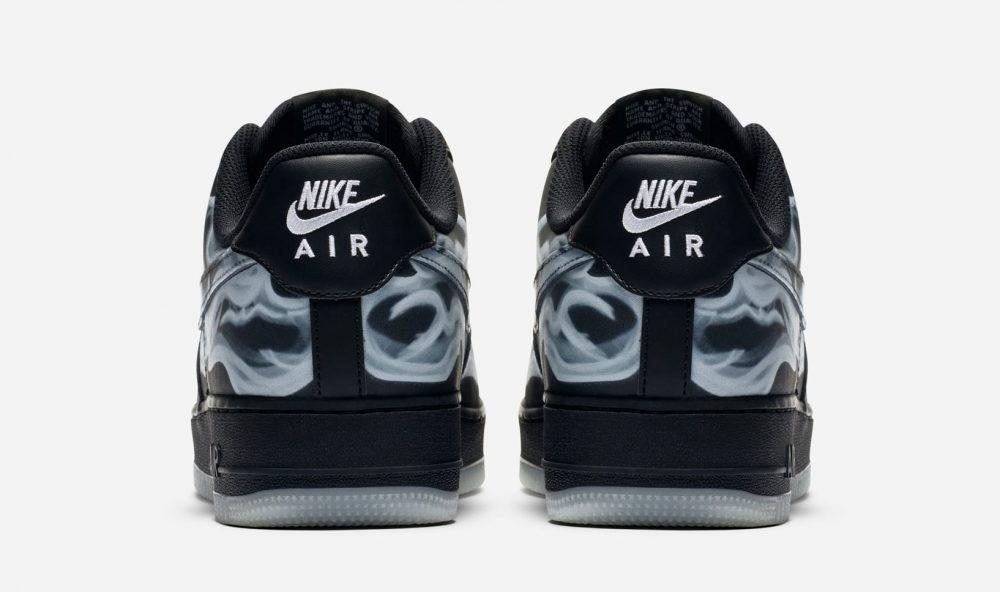"""nike air force 1 low black skeleton heel 1000x592 - Nike adelanta Halloween con las nuevas Air Force 1 Low """"Black Skeleton"""""""